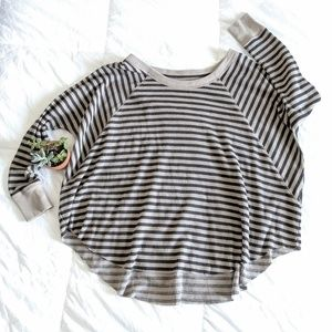 Free People Oversized Stripe Top